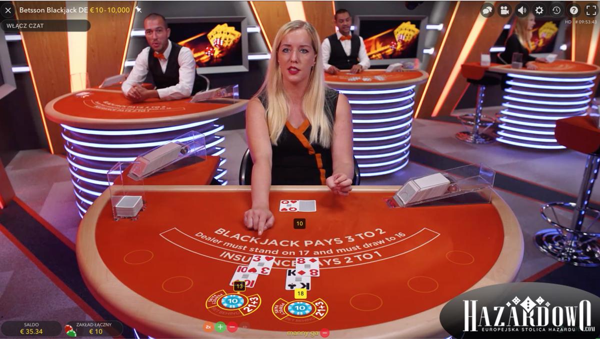 Zasady Blackjacka - Blackjack Online z Żywym Krupierem w kasynie Betsson