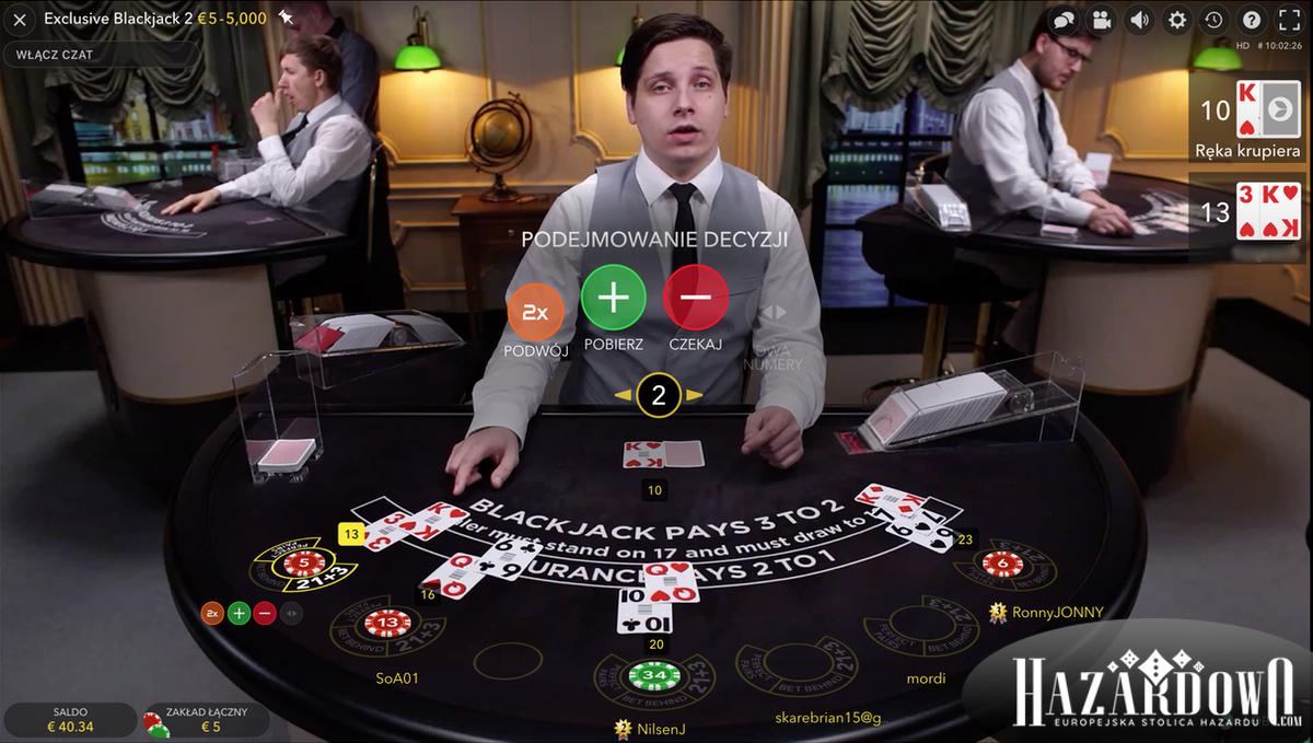 Blackjack Online na Żywo - Podejmowanie Decyzji