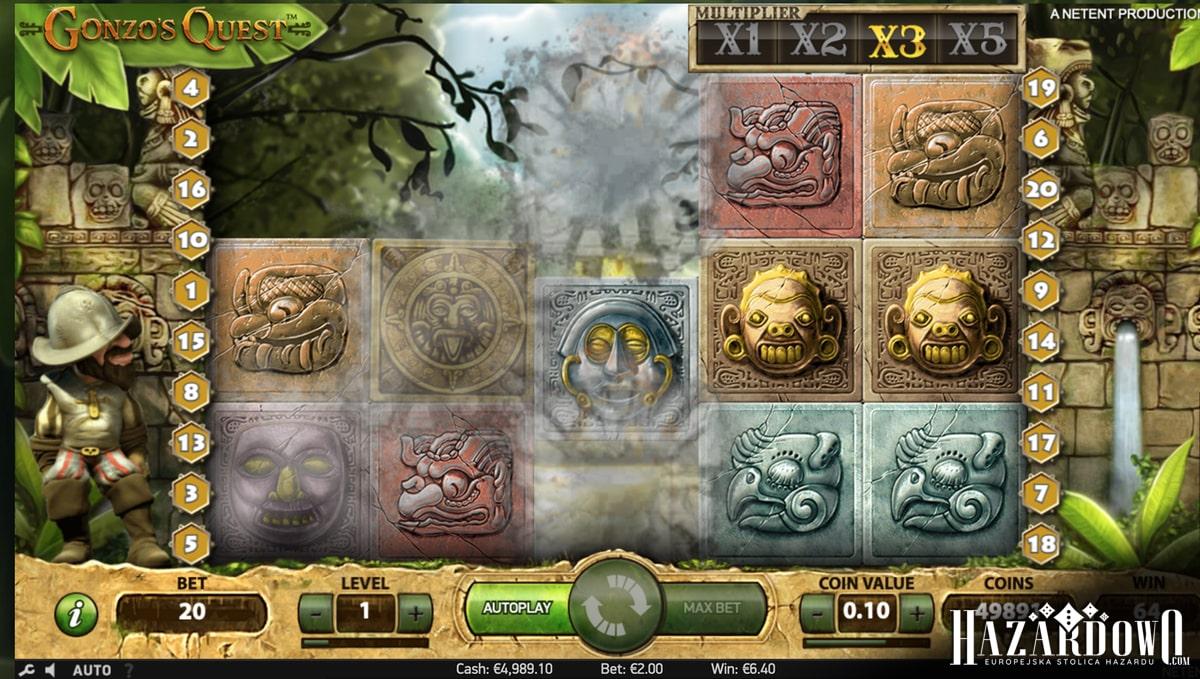 Gonzo's Quest - recenzja automatu do gry online | Hazardowo.com