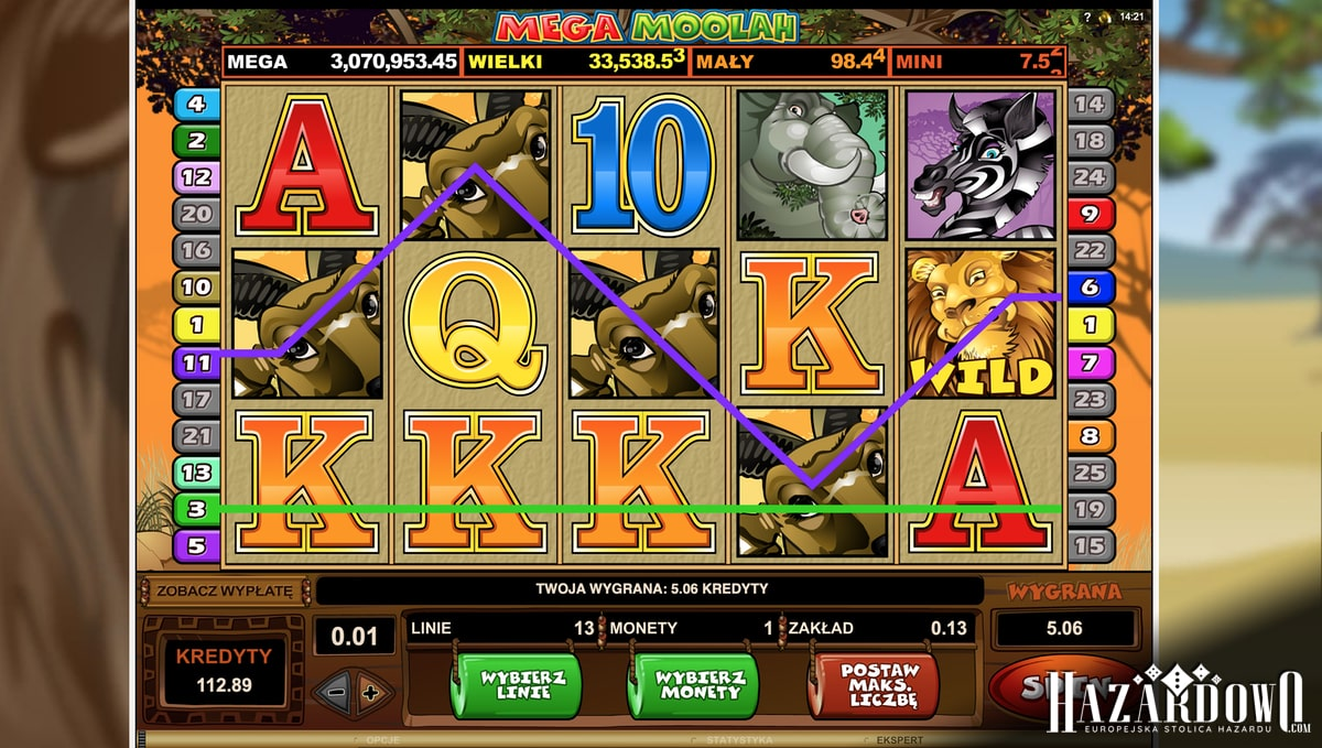 Mega Moolah - opis automatu w portalu Hazardowo.com