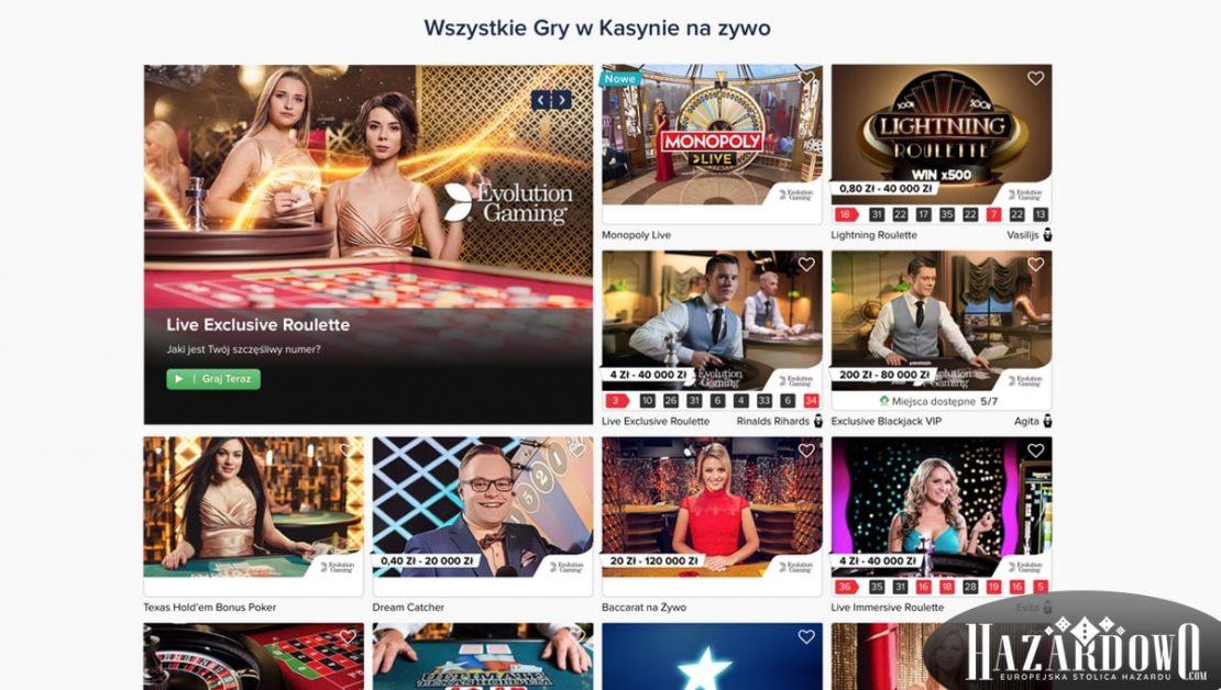 Recenzja kasyna online Casino Euro w portalu Hazardowo - lobby gier na żywo