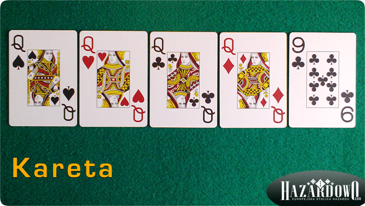 Układy w Pokerze - Kareta - Hazardowo.com