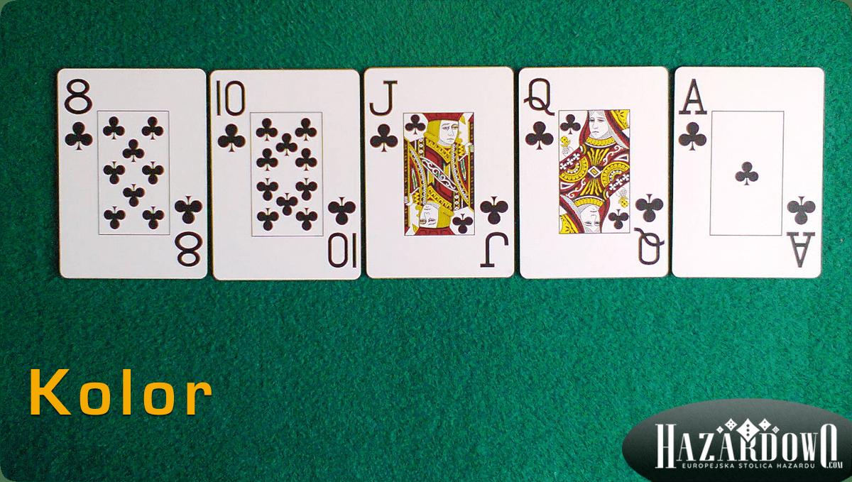 Układy w Pokerze - Kolor - Hazardowo.com