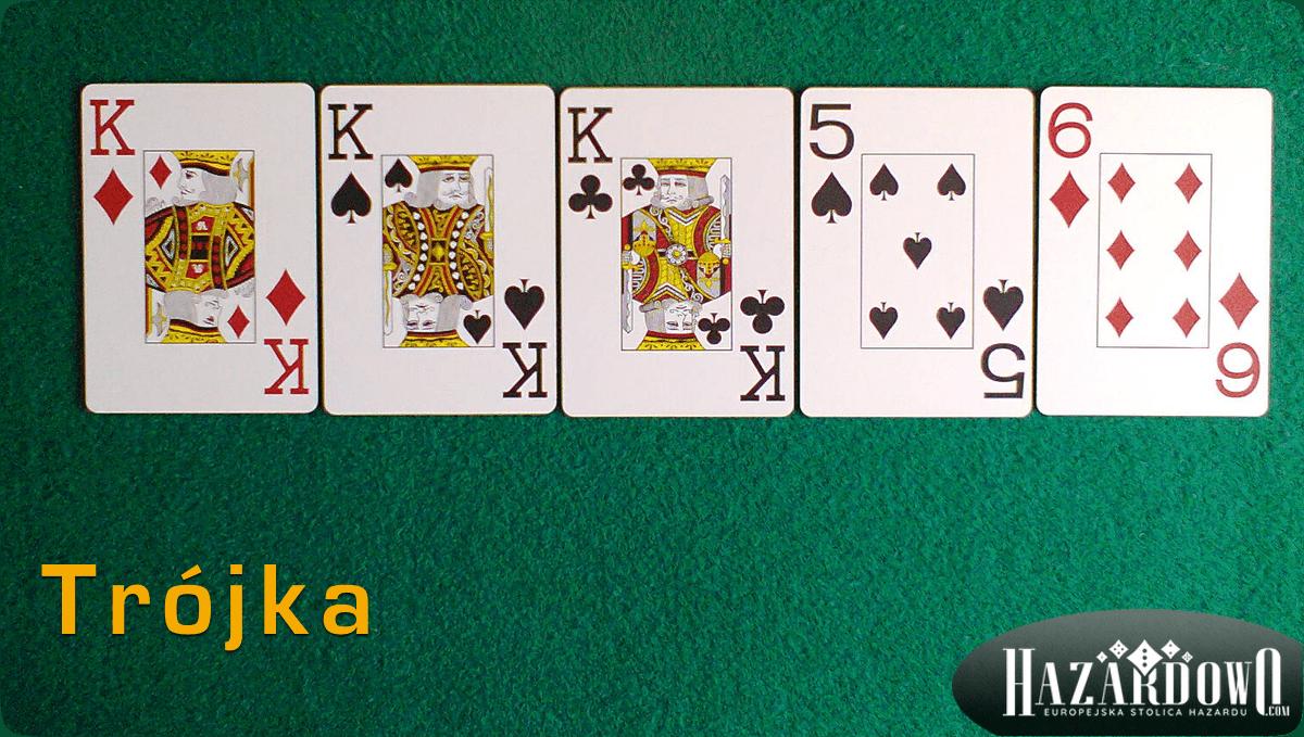 Układy w Pokerze - Trójka - Hazardowo.com