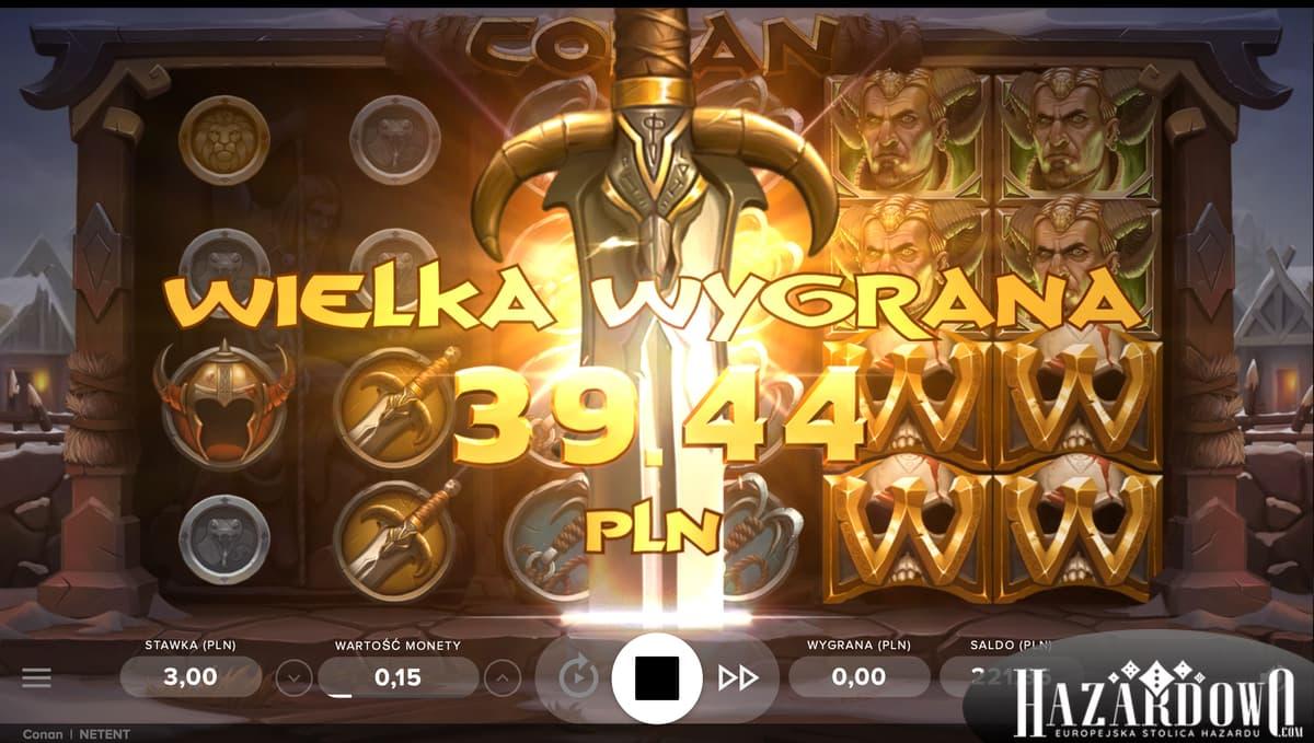 Hazardowo - Automat do gry Conan - Wielka Wygrana