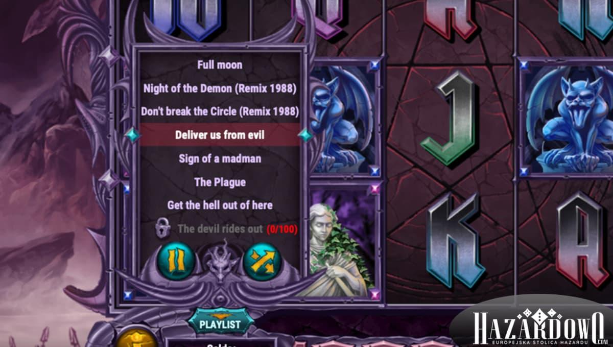 Automat do gry Demon - playlista hitów zespołu Demon