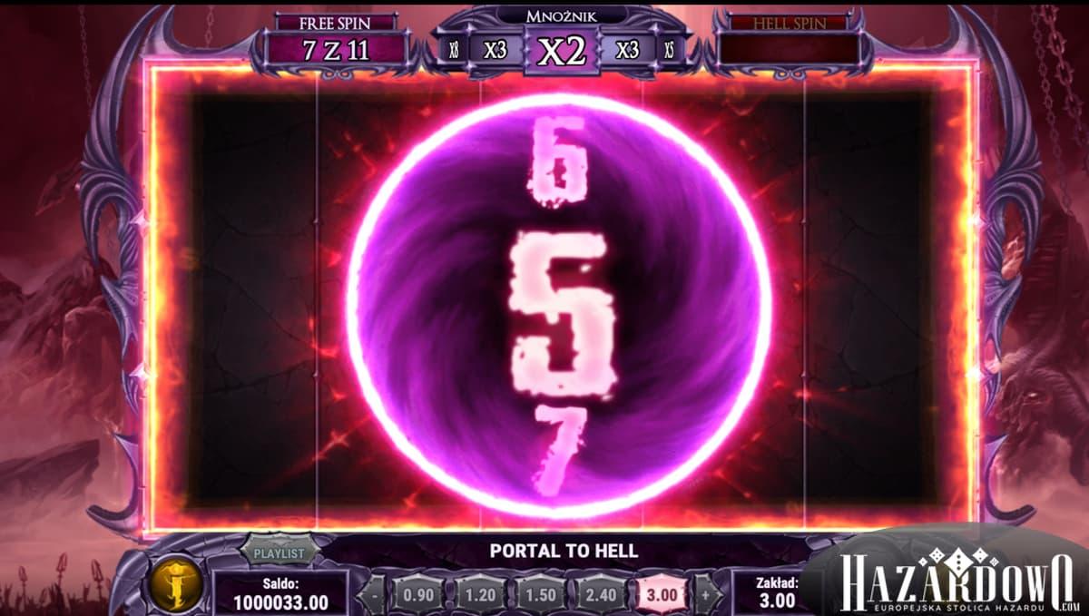 Automat do gry Demon - dodatkowe spiny w trybie portal to hell
